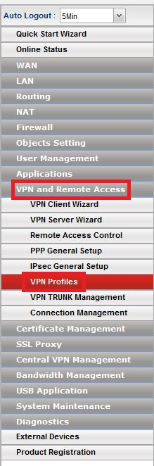 Configuring PPTP LAN-to-LAN VPN Tunnel between Vigor 2860