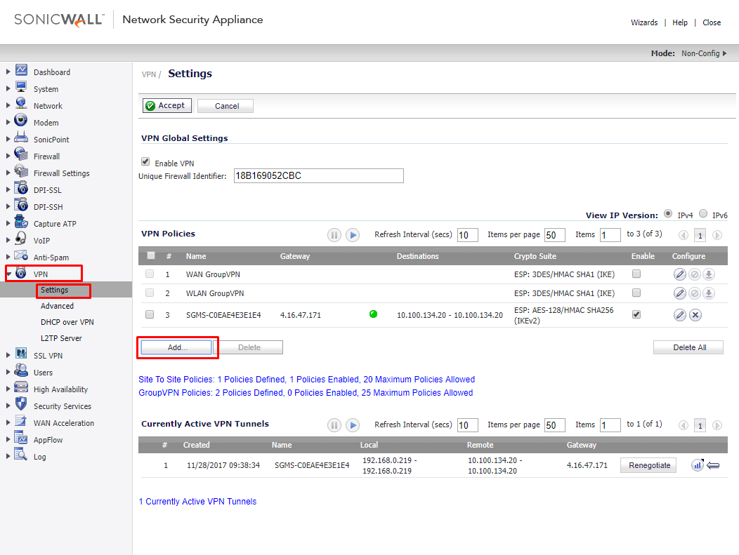Aggressive Mode VPN Connection between SonicWALL and Draytek