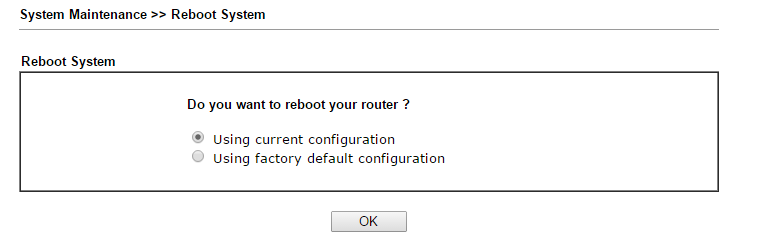 Router reboot